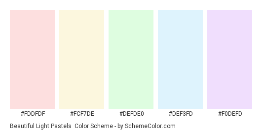 Beautiful Light Pastels Color Scheme » Blue » SchemeColor.com