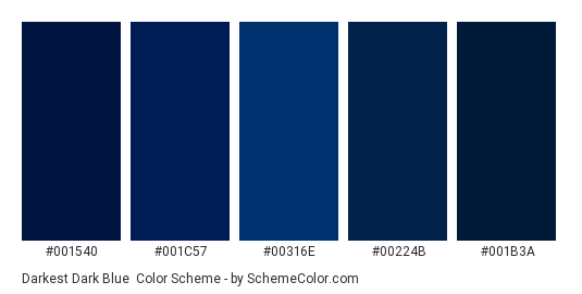 Darkest Dark Blue Color Scheme Blue Schemecolor Com