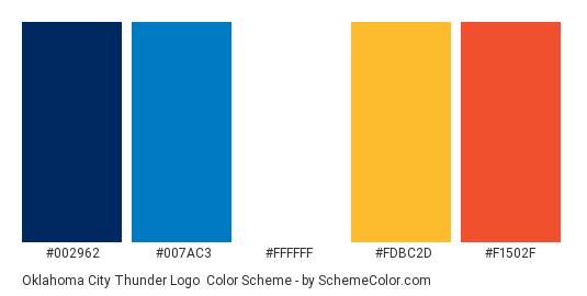 best sneakers 934e2 47295 Oklahoma City Thunder Logo Color Scheme » Blue » SchemeColor.com