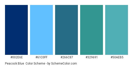 Pea Blue Color Scheme Palette Thumbnail 002e6e 61c0ff 266c87 329691