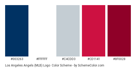 Los Angeles Angels Mlb Logo Color Scheme Brand And Logo