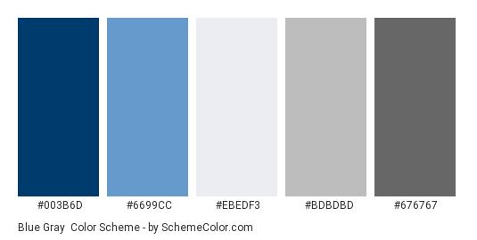 Blue Gray Color Scheme Palette Thumbnail 003b6d 6699cc Ebedf3 Bdbdbd