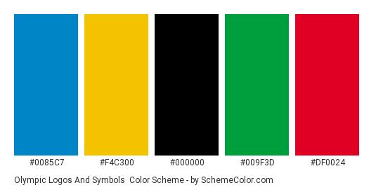 Olympic Logos And Symbols Color Scheme Black Schemecolor
