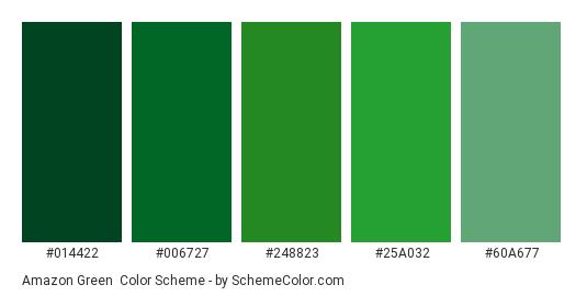 Green Color Scheme Palette Thumbnail 014422 006727 248823 25a032