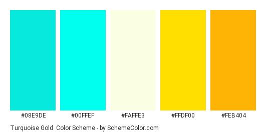 Turquoise Gold Color Scheme Blue Schemecolor Com