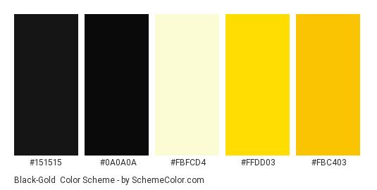 Black-Gold Color Scheme » Black » SchemeColor.com