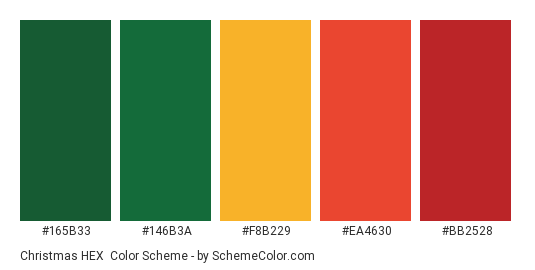 Christmas Colors Palette.Christmas Hex Color Scheme Christmas Schemecolor Com