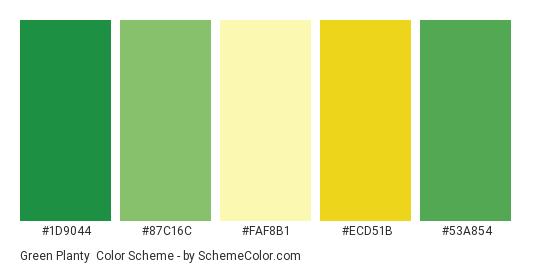 Green Planty - Color scheme palette thumbnail - #1D9044 #87C16C #FAF8B1 #ECD51B #53A854