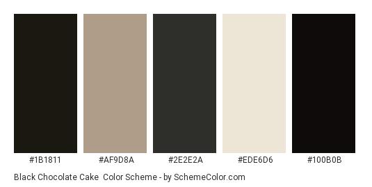 Black Chocolate Cake - Color scheme palette thumbnail - #1b1811 #af9d8a #2e2e2a #ede6d6 #100b0b
