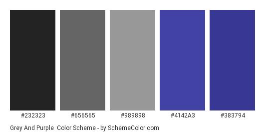 Grey And Purple Color Scheme Gray