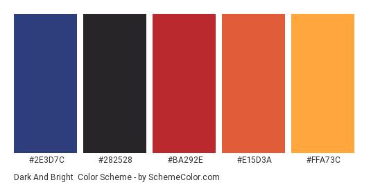 Dark And Bright Color Scheme Palette Thumbnail 2e7c 282528 Ba292e
