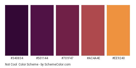 Not Cool Color Scheme Palette Thumbnail 340834 501144 701f47 Ac4a4e