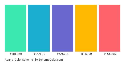 Asana Color Scheme 187 Blue 187 Schemecolor Com