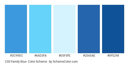 Css Family Blue Color Scheme Palette Thumbnail 3c99dc 66d3fa D5f3fe