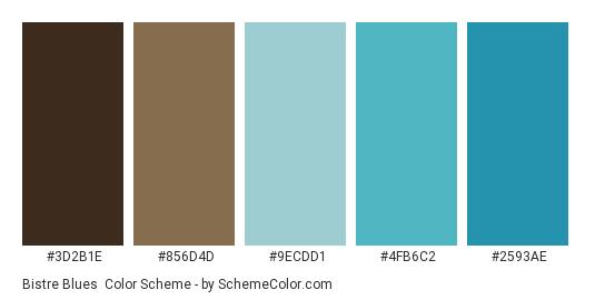 Bistre Blues Color Scheme » Blue » SchemeColor com