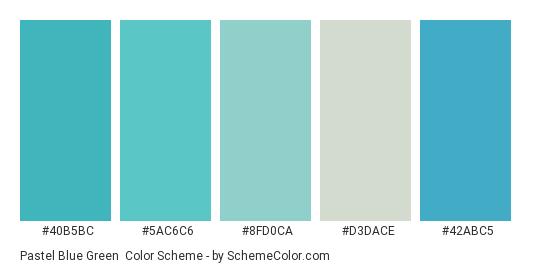 Pastel Blue Green Color Scheme Palette Thumbnail 40b5bc 5ac6c6 8fd0ca