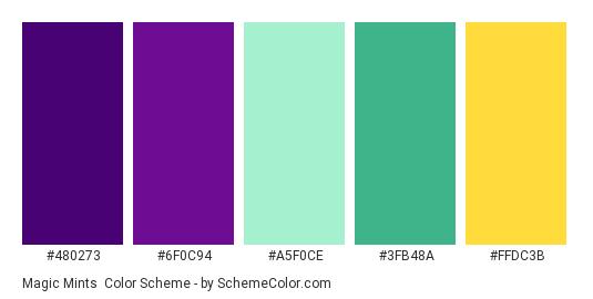 Magic Mints Color Scheme Green Schemecolorcom