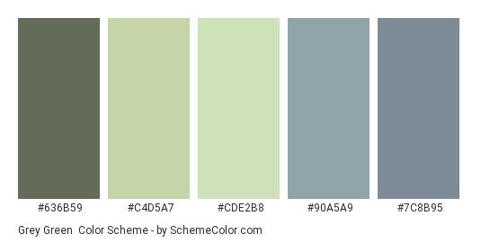 Grey Green Color Scheme Dull Schemecolor Com
