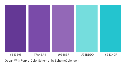 Ocean With Purple Color Scheme Palette Thumbnail 643895 7a4ba9 9368b7