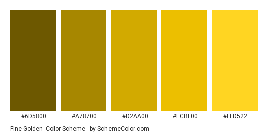 Fine Golden Color Scheme Brown Schemecolor Com