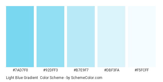 Light Blue Gradient Color Scheme » Blue » SchemeColor com