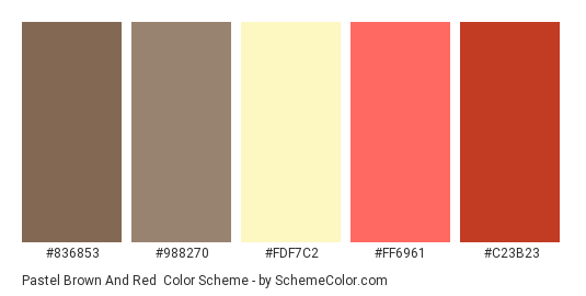 Pastel Brown And Red Color Scheme Palette Thumbnail 836853 988270 Fdf7c2