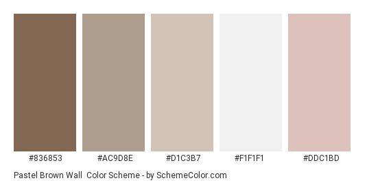 Pastel Brown Wall Color Scheme Palette Thumbnail 836853 Ac9d8e D1c3b7