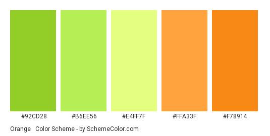 Orange Green Color Scheme Green Schemecolor Com