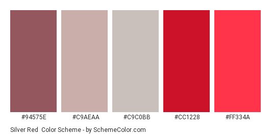 Silver Red Color Scheme » Gray » SchemeColor.com