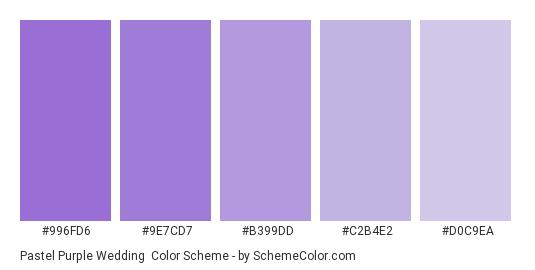 Pastel Purple Wedding Color Scheme » Monochromatic » SchemeColor.com