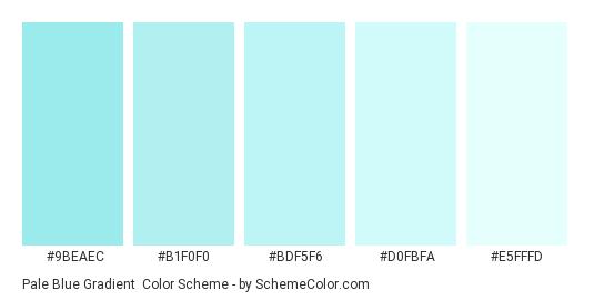 Pale Blue Gradient - Color scheme palette thumbnail - #9beaec #b1f0f0 #bdf5f6 #d0fbfa #e5fffd