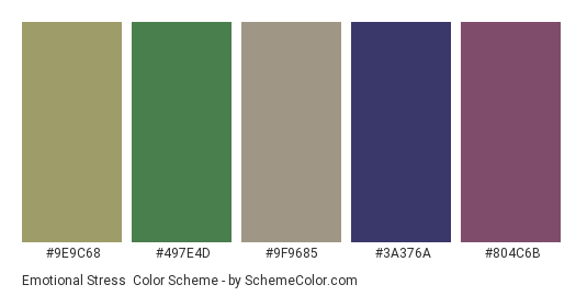 Emotional Stress Color Scheme » Blue » SchemeColor.com