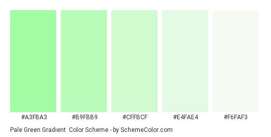 Pale Green Gradient - Color scheme palette thumbnail - #A3FBA3 #B9FBB9 #CFFBCF #E4FAE4 #F6FAF3