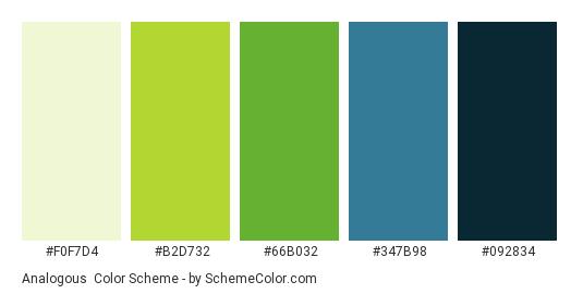 Analogous Color Scheme Blue SchemeColor