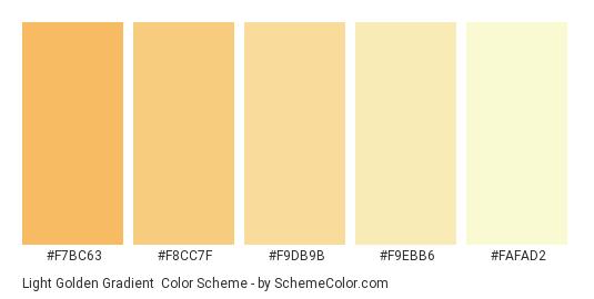 Light Golden Gradient - Color scheme palette thumbnail - #F7BC63 #F8CC7F #F9DB9B #F9EBB6 #FAFAD2