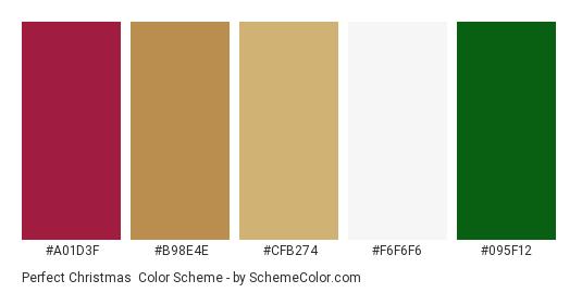 Perfect Christmas - Color scheme palette thumbnail - #a01d3f #b98e4e #cfb274 #f6f6f6 #095f12