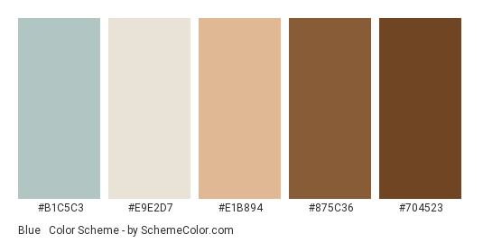 Blue Brown Pastels Color Scheme Palette Thumbnail B1c5c3 E9e2d7 E1b894
