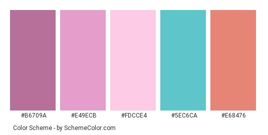 Pink Cadillac Color Scheme Palette Thumbnail B6709a E49ecb Fdcce4 5ec6ca