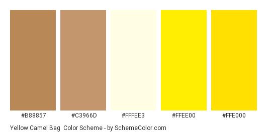 Yellow Camel Bag Color Scheme » Brown » SchemeColor.com
