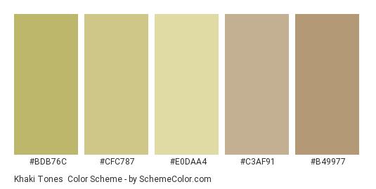 Khaki Tones Color Scheme Brown Schemecolor Com