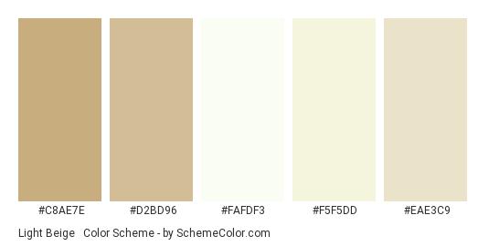 Light Beige & White - Color scheme palette thumbnail - #c8ae7e #d2bd96 #fafdf3 #f5f5dd #eae3c9
