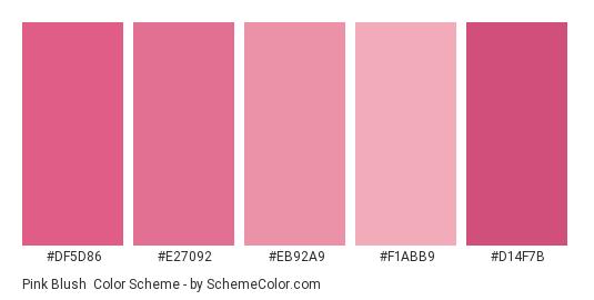 Pink Blush Color Scheme Pink Schemecolorcom
