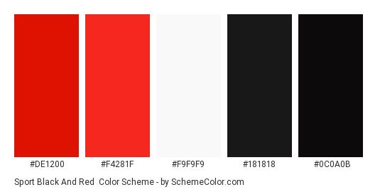 Sport Black And Red Color Scheme Palette Thumbnail De1200 F4281f F9f9f9