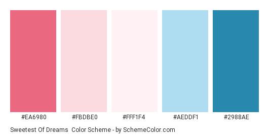 Sweetest Of Dreams Color Scheme Palette Thumbnail Ea6980 Fbdbe0 Fff1f4