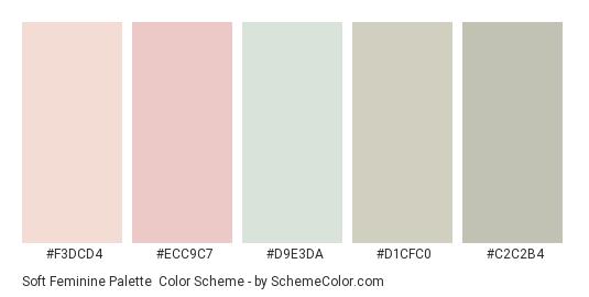 soft feminine palette color scheme gray schemecolor com