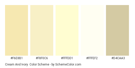 Cream And Ivory Color Scheme Cream Schemecolor Com
