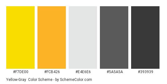 Yellow Gray Color Scheme SchemeColor