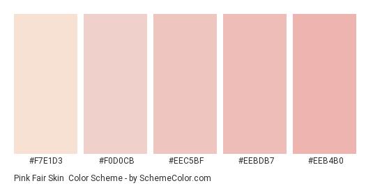 Pink Fair Skin - Color scheme palette thumbnail - #f7e1d3 #f0d0cb #eec5bf #eebdb7 #eeb4b0