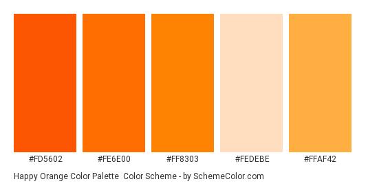 Hy Orange Color Palette Scheme Thumbnail Fd5602 Fe6e00 Ff8303