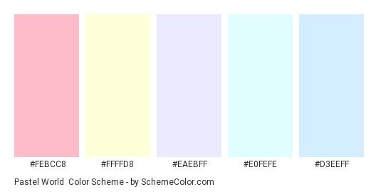 Pastel World Color Scheme » Blue » SchemeColor.com